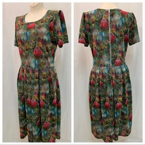 New LuLaRoe Amelia MultiColor Dress With Pockets